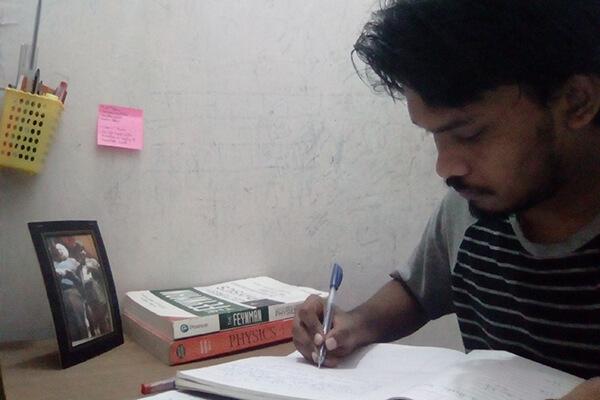 Vijay Studying